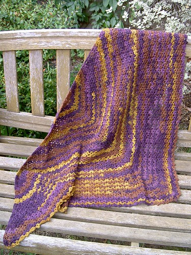 Back to the 70s shawl