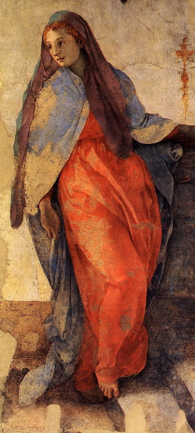 PONTORMO, Jacopo Annunciation of the Virgin Mary (Detail) 1527-28