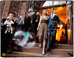 A Soapy Gauntlet (Ryan Brenizer) Tags: wedding orange brooklyn groom bride lowlight nikon action ceremony brooklynheights bubbles noflash gothamist topf150 topf250 d3 gauntlet iso6400 weddingphotojournalism 2470mmf28g evaandlane