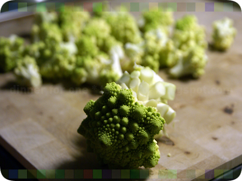 parboiled romanesco plus shrip