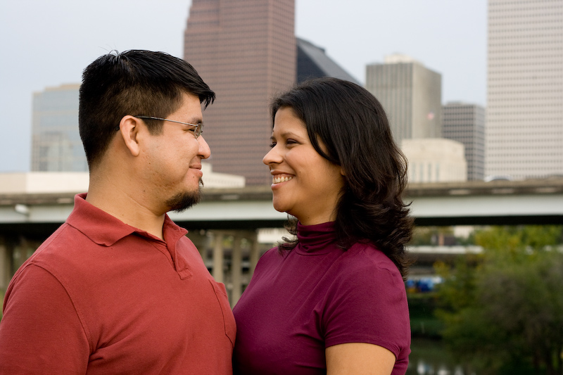 Mariely & Mauro – Engagement Session, Downtown Houston, Texas