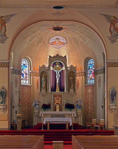 Saint Peter Roman Catholic Church, in Saint Charles, Missouri, USA - sanctuary