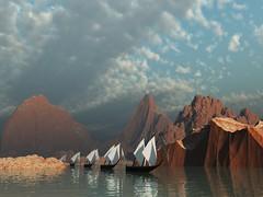 Ships arriving