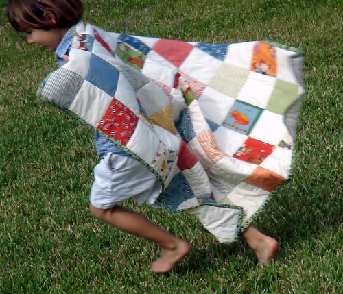 boys american jane quilt, with A.