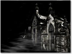 Haunting All Souls' Night (AnnuskA  - AnnA Theodora) Tags: blackandwhite mist halloween cemetery souls night scary sãopaulo crosses haunted spooky haunting crypt wandering frightening ghouls firstquality allsoulsnight 123bw fearthis 35faves 3000v120f bramstokersdracula bewareofwhatyoulookfor takeninthesameplaceasthelast3angelphotos