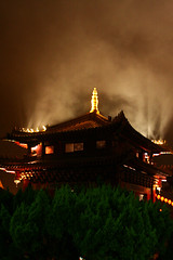 Light from the temple night