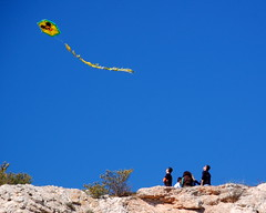 Flying Kites on Philopappus Hill (by RobW_)