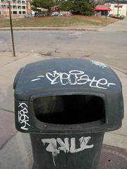 Detroit graffiti (ExcuseMySarcasm) Tags: urban streetart art mi graffiti garbage michigan detroit graffito elya graffitis fbsk