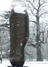 02 Large upright internal & external form1, 1981-2 (chericbaker) Tags: sculpture kewgardens snow kew moore henrymoore mooreatkew