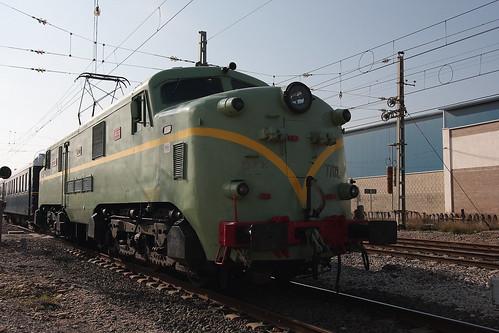 El tren sale de la estación (Casetas)
