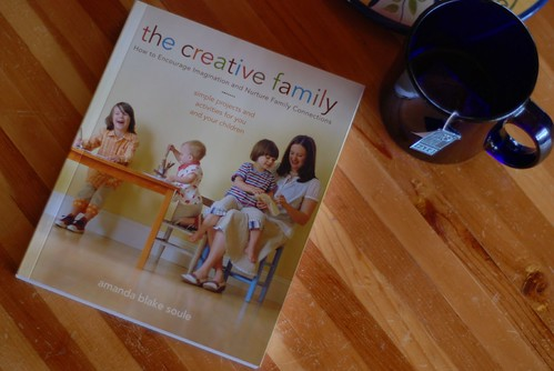 the creative family with a cup of tea