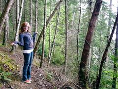 Walk (kelseyofanne) Tags: trees forest point walk bodylanguage hike vancouverisland slope crofton