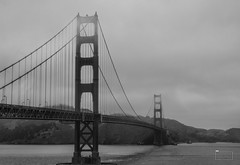 Golden Gate Fog (nsmarra) Tags: goldengate sanfran blackandwhite fog