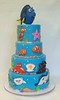 Finding Dory cake (ldeandyment) Tags: cake cakedecorating whimsical custom caketoppers findingdory pixar character octopus starfish otters fish stingray shark 4tier clownfish nemo seahorse