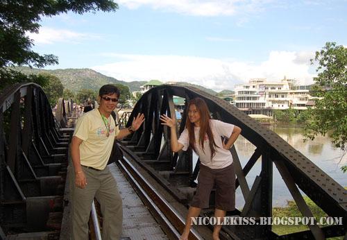 me and richard on bridge of river kwai