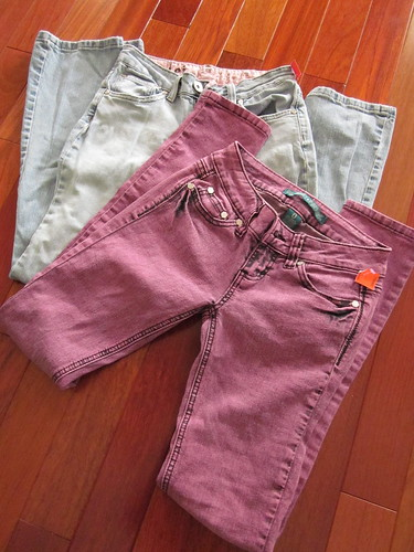 goodwill find: two pairs of jeans