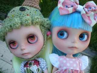 My Custom Milky Robot Blythe Doll & Monster