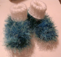 Furry Baby Booties