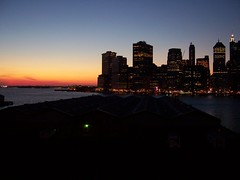 Sunset on Goldman Sachs (ty law) Tags: sunset sky newyork color silhouette skyline brooklyn skyscraper port harbor waterfront purple crane manhattan ships brooklynheights financialdistrict woolworthbuilding goldmansachs aigbuilding