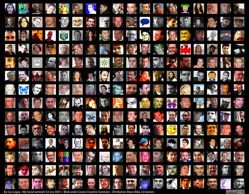 a montage of hundreds of faces on a black background