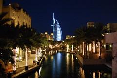 Souk Madinat and Burj Al Arab at night (árticotropical) Tags: city urban building tourism architecture dubai uae arabic arab unitedarabemirates
