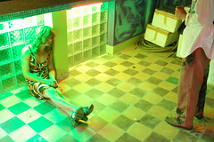 between Nan & Cindy (colodio) Tags: light green cindy yellow festival night square asian photography cambodia shauna sean explore lee siem reap claude angkor nan arles sherman picapica antoine ladyboy nigh 2007 afterhours dasie goldin katoey apf damier carnets worshop estebe colodio dagata dsc0213katoeystaging8