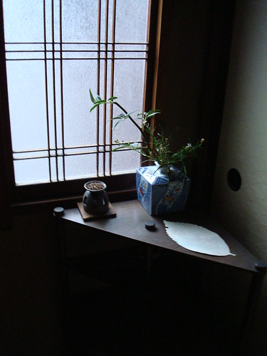 Corner display at the ryokan