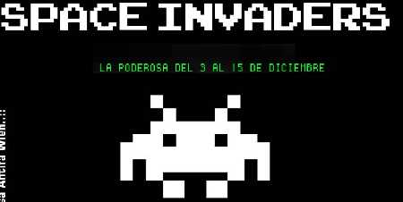 Space invaders en La Poderosa