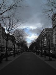 Avenue de Flandre - Paris (Samyra Serin) Tags: street sky paris tree car tag3 taggedout clouds interestingness alley tag2 tag1 gimp explore 75 arbre iledefrance 2007 selectivecolor 75019 hp735 crime twtme avenuedeflandre flickrhearts samyras bringbackatouchofcolor theperfectphotographer samyraserin samyra008