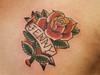 Rose & Name Tattoo By Dan Kubin