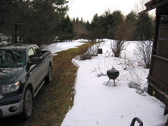 Cleared driveway to the cabin