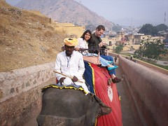 Riding up to the Fort on Elephant.
