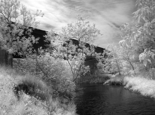 HDR IR Lost railway bridge at Bowmanville Creek