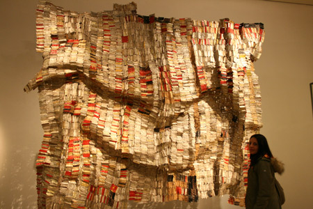El Anatsui's work and Ana.