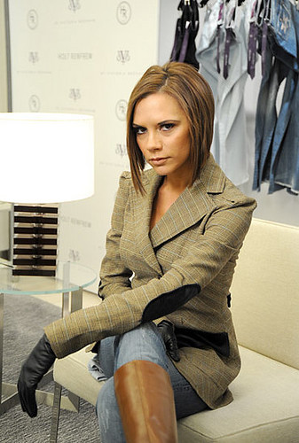 victoria beckham and leather
