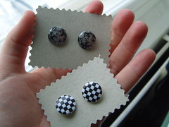 Button Earrings 2