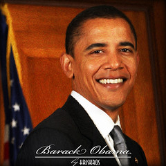 barack obama digitized (Kris Kros) Tags: usa digital photoshop painting for nikon paint president running can presidential we digitalpainting believe kris change d200 2008 democrat obama kkg nominee barack kros kriskros kk2k changewecanbelievein kkgallery