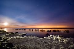 IMGP-4392 (Bob West) Tags: longexposure nightphotography moon ontario ice night clouds lakeerie greatlakes fullmoon nightshots startrails lightroom sigma1020mm southwestontario bobwest k10d