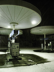 UFO station (fatseth) Tags: winter snow black cold ice station night dark hiver alien ufo sombre nancy neige 2008 nuit froid morel glace ovni extraterrestre gazoil fatseth stationwhite genseric