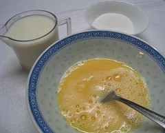 Steamed Eggs with Milk Dessert Procedures01