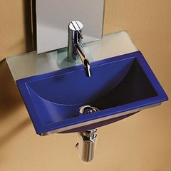 MINNIE Ceramic Sink with glass shelf and stainless steel wall bracket (some.ideas) Tags: sinks