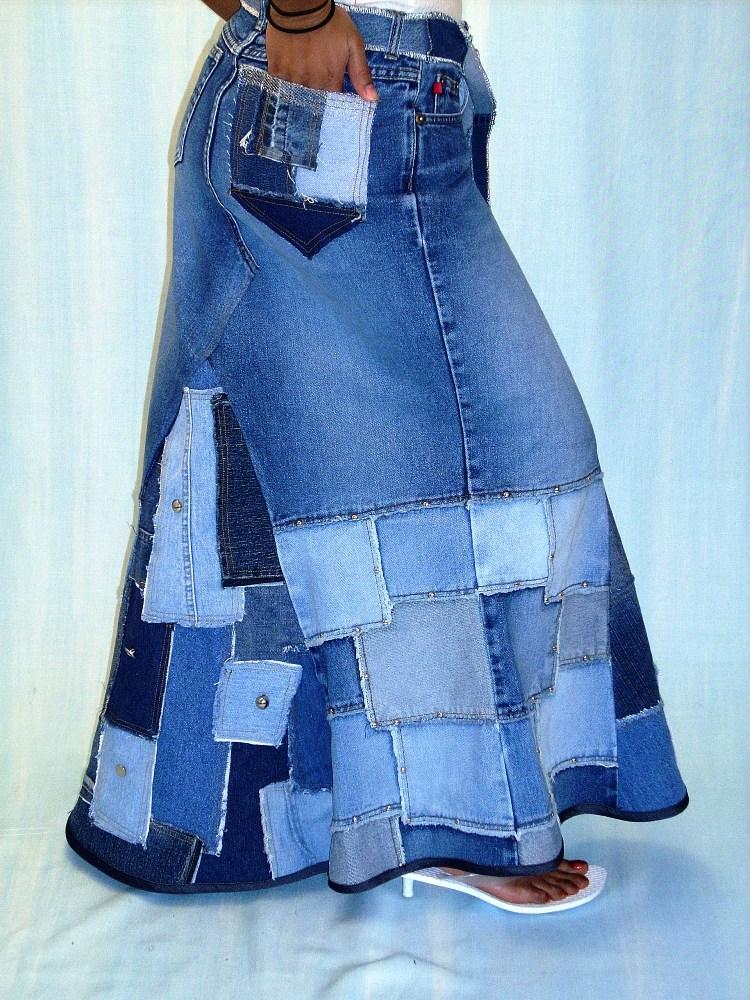 Обновить старую юбку своими руками 35