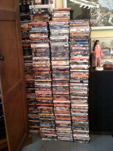 Part of Douglas' DVD collection