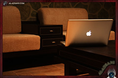 .. (Mohammed Al-Adsani ) Tags: apple lights book mac room pro seating dim      aladsani