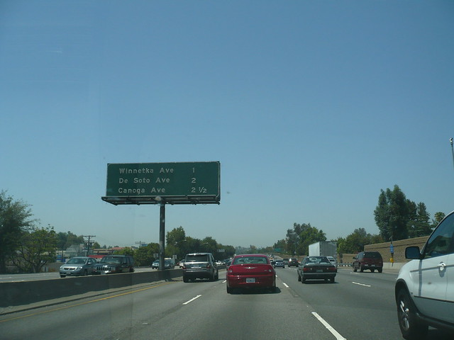 Tarzana Los Angeles. US 101 Ventura Freeway Northbound in Tarzana (Los Angeles)