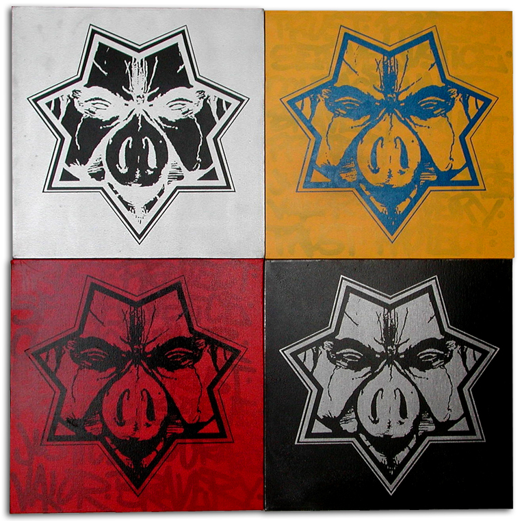 STAR PIG CANVAS for Sale.