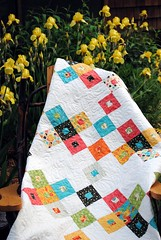 Better Together quilt pattern by Sweet Jane's, Frolic fabric by Sandy Gervais (sweetjanequilting) Tags: patterns moda quilting layercake honeybun designerfabric precuts
