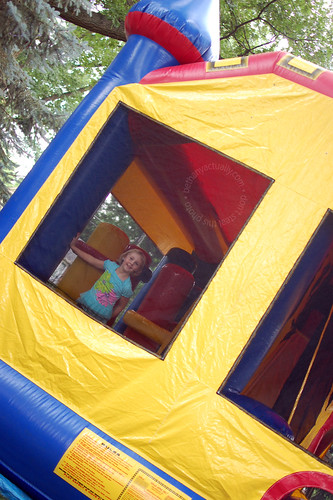happy thing: neighbors who own a bounce house