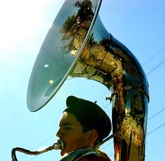 Deep Breath (St0rmz) Tags: reflection expression breath band instrument marching petaluma marchingband tuba concentrate petalumaca