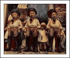 Three Dutch boy smokers (antwerpalan) Tags: holland art dutch aj delicious figures bricabrac googleimages pipesmokers visiongroup antwerpalan alandean photosbyalandean photosbyantwerpalan nostalgianostalgie
